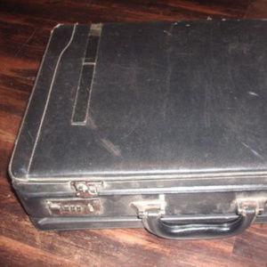 vintage leather mens briefcase bag
